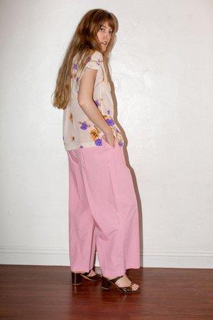 No.6 Silk Georgette Faro Pocket Top