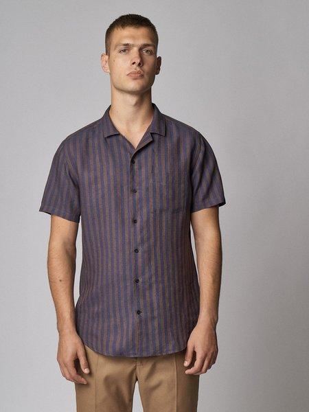 Carpasus linen shirt - malaya brown