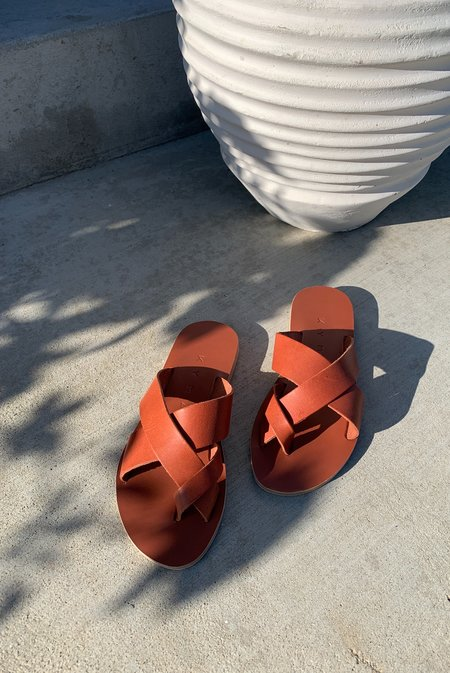 KYMA Skyros Criss Cross Sandals - Terracotta