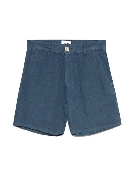 Wax London Linen Holm Shorts - Folkstone Grey