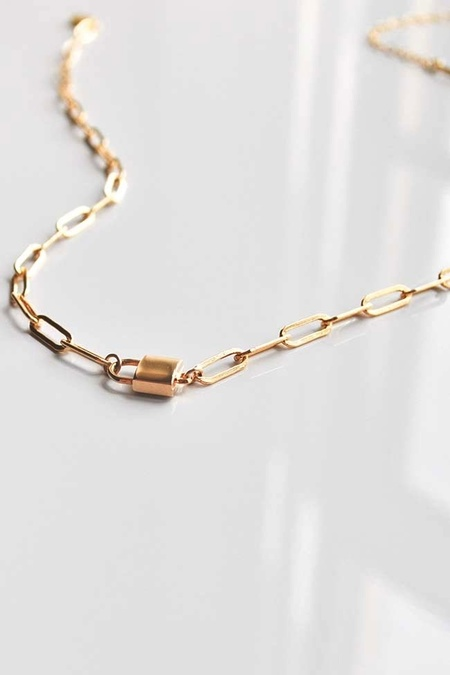 Thatch Jessa Lock Necklace - 14k gold plated