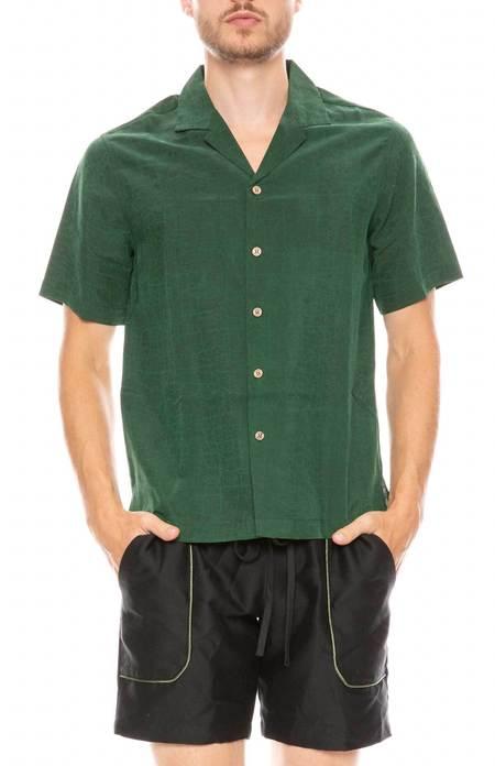 Silk Camp Collar Shirt - Turtle