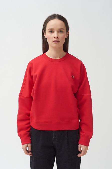 Colovos Hand Embroidered sweatshirt - Red