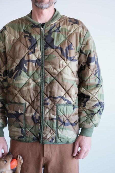 Vintage QUILTED CAMO BOMBER JACKET