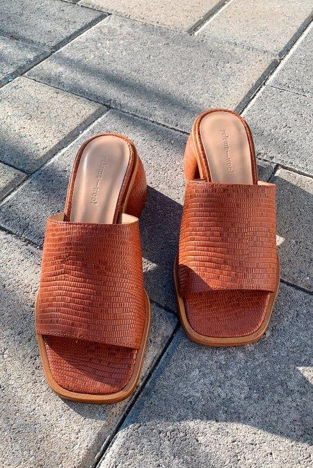 Paloma Wool Oslo Sandal - Dark Brandy Brown