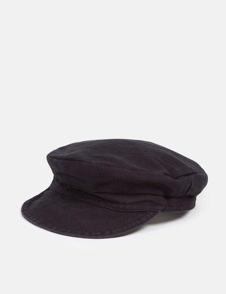 Vetra Dungaree Wash Twill French Workwear Cap - Black