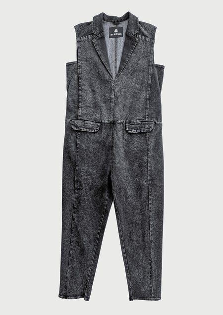 Berenik JUMPSUIT REVERS - DENIM washed black