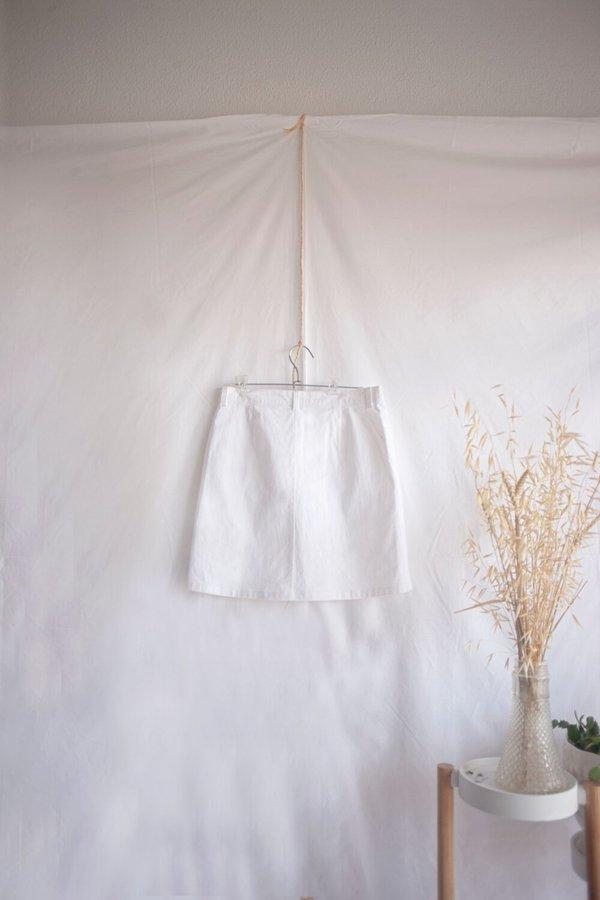 siz CANVAS MARGERIE SKIRT - Off-White