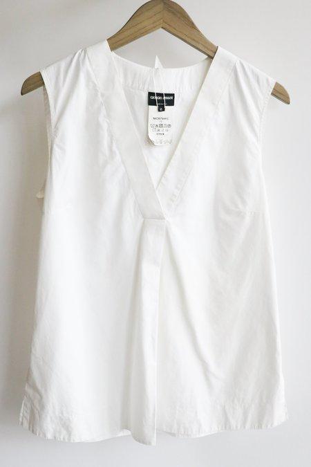 [Pre-loved] Giorgio Armani Solid Shirt - White