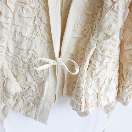 [Pre-loved] Ivan Grundhal Crinkled Jacket - Ivory