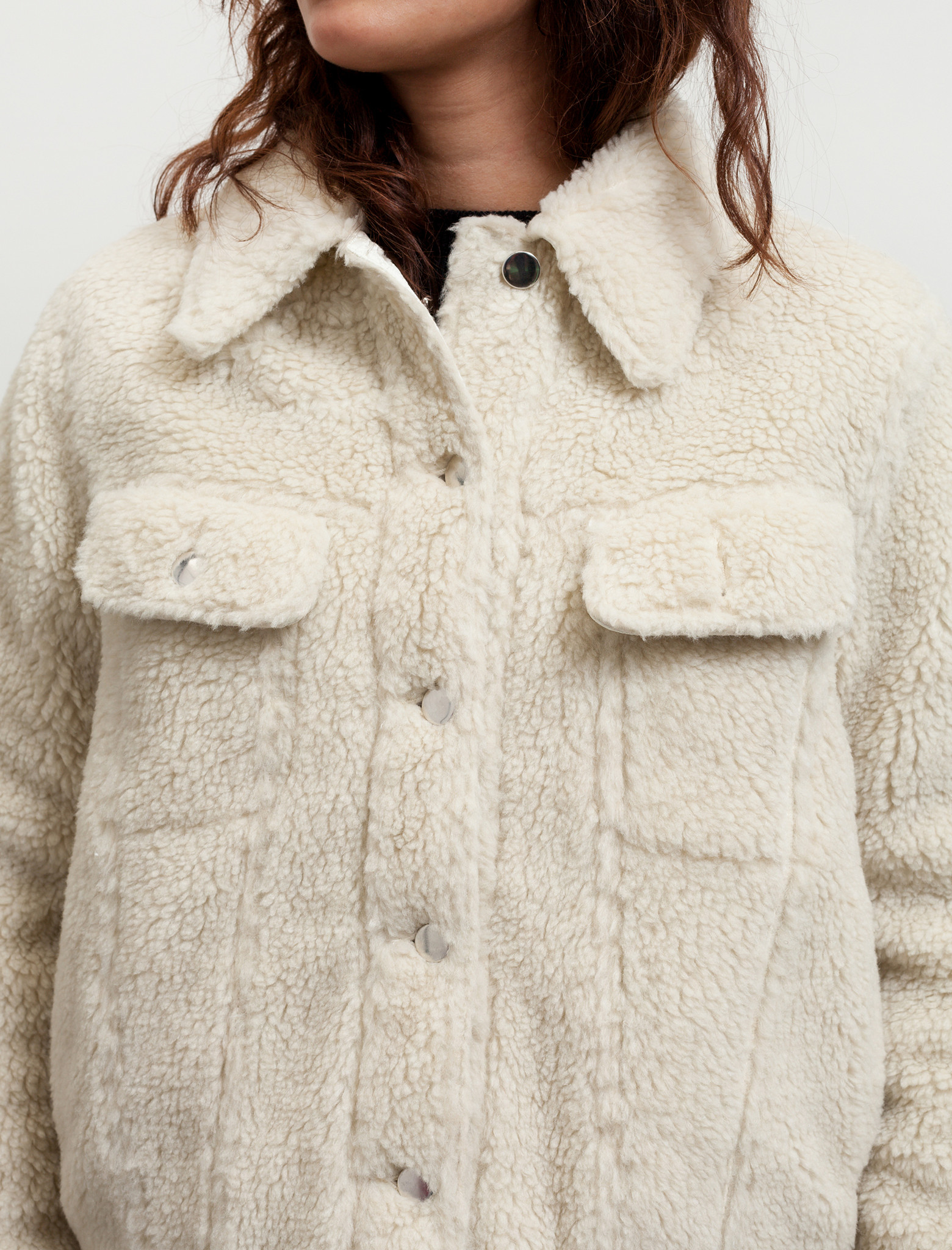 MM6 by Maison Margiela Womens Teddy Bear Denim Jacket ...