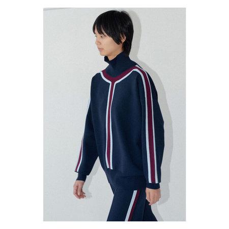 Nomia Striped Turtleneck - Midnight Stripe