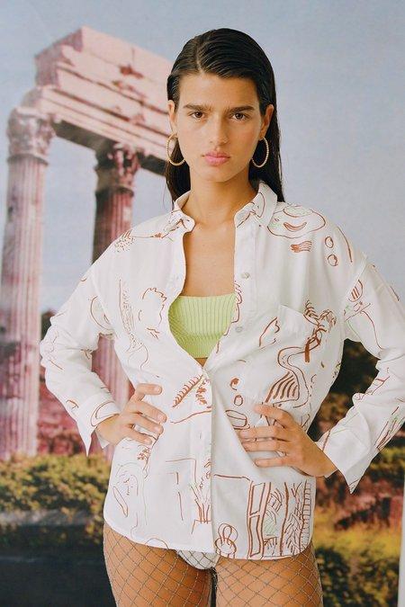 Paloma Wool Misa Casa Print Shirt - Off White