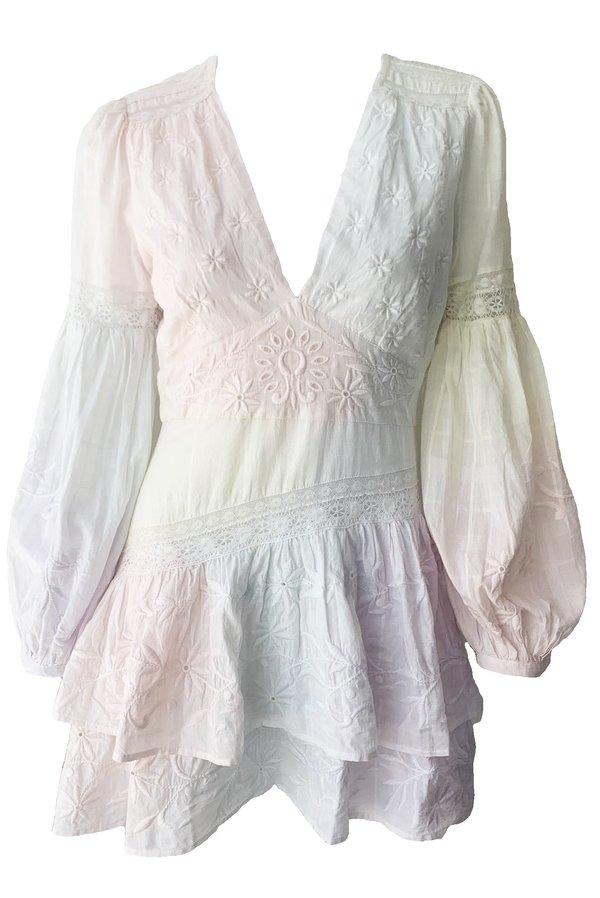 LoveShackFancy Abitha Dress - Multi Tie Dye