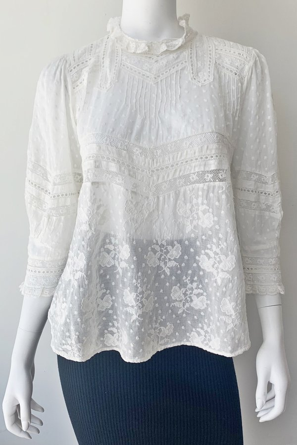 LoveShackFancy Shelly Top - White