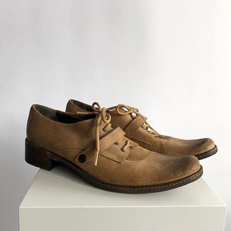 [Pre-loved] NOW Lace Up Shoes - Tan
