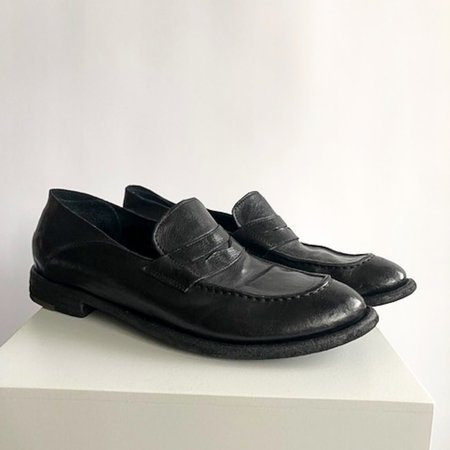[Pre-loved] Officine Creative Leather Loafers - Black