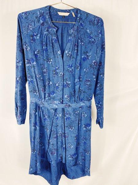 [Pre-loved] Rebecca Taylor Floral Mini Dress - Blue