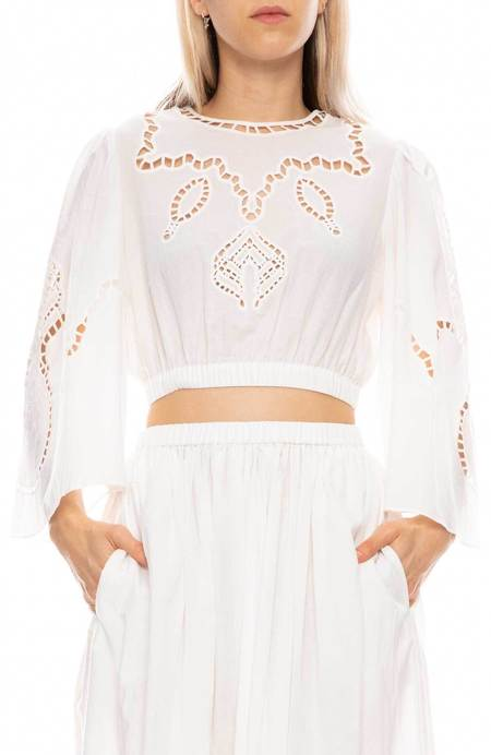 Rhode Resort Casper Eyelet Top - IVORY