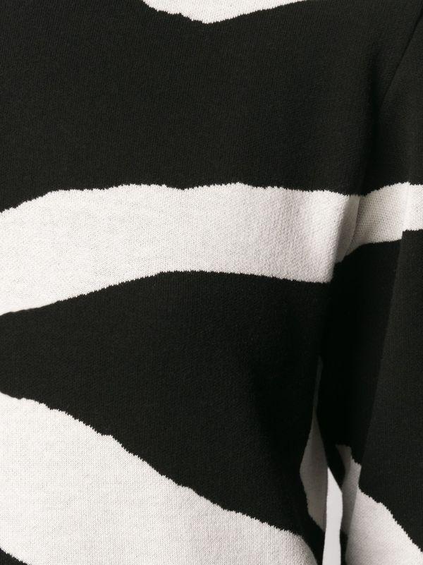 Christian Wijnants Kisha Sweater - White Zebra Stripes