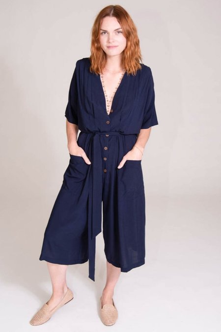 Tysa French Market Playsuit - Navy