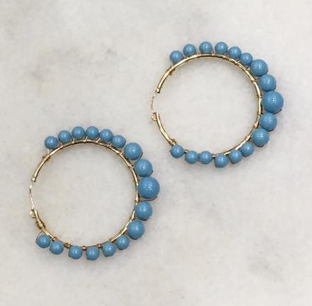 Jennifer Tuton Turquoise Hoops