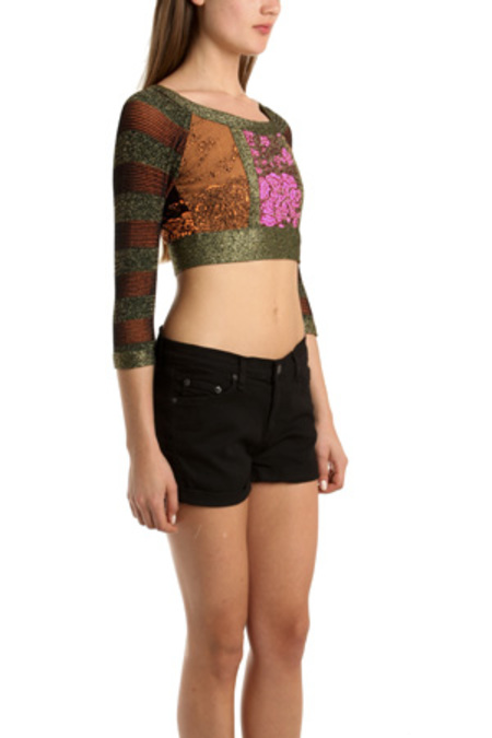 Coven Cropped Top With Pink Center - multi