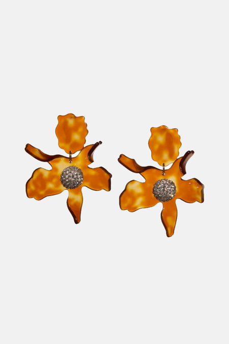 Lele Sadoughi Crystal Lily Earrings - Caramel