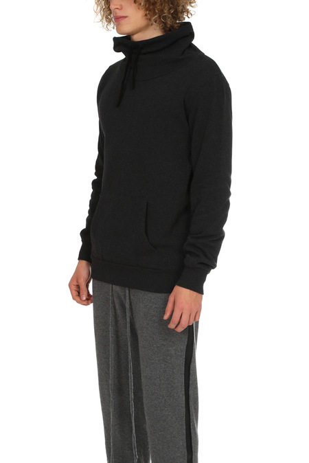 Crossley Fossarid Fleece Mockneck Sweater - Charcoal