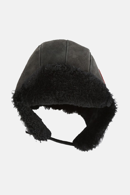 Canada Goose Suede Shearling Pilot Hat - Black