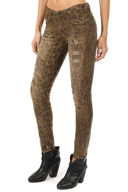 R13 Kate Skinny Jeans - Leopard