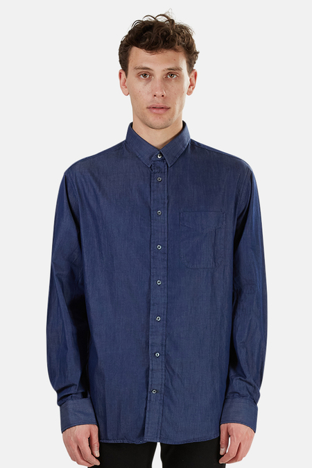 Blue & Cream Chambray Shirt - Chambray Blue