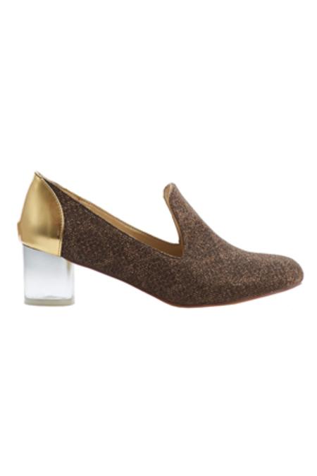 Arden Wohl x Cri de Coeur Carrington Heel - Bronze