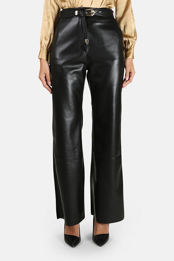 Nanushka Kisa Vegan Leather Pants - Black