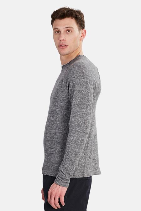 Blue & Cream Bowery Raglan Sweater - Charcoal