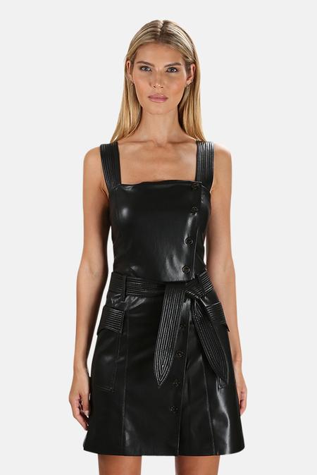 Nanushka Charo Vegan Leather Dress - Black