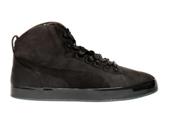 Puma by Hussein Chalayan Urban Glide Mid Suede Sneakers - Dark Brown/Black