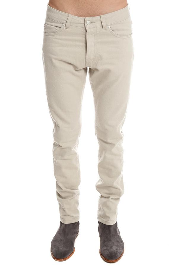 Officine Generale Five Pocket Japanese Selvedge Denim Pants - Beige