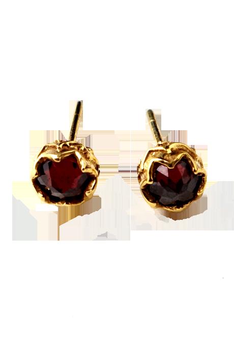 Katie Diamond Jewelry - Karma Studs Red Garnet