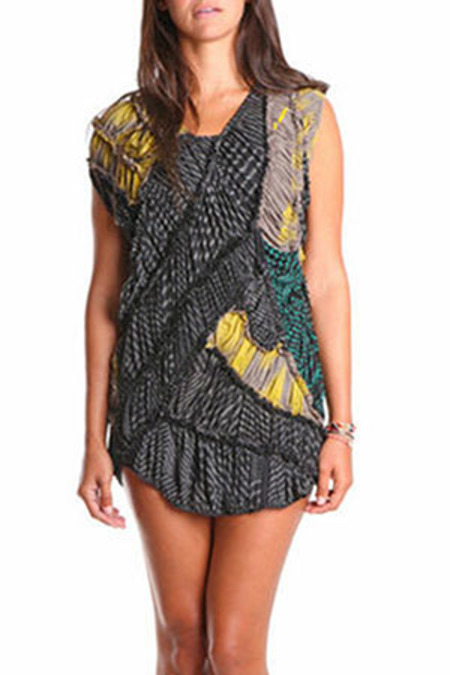Salvor Rami Zebra Dress