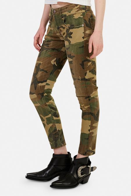 R13 Boy Skinny Jeans - Beige Camo