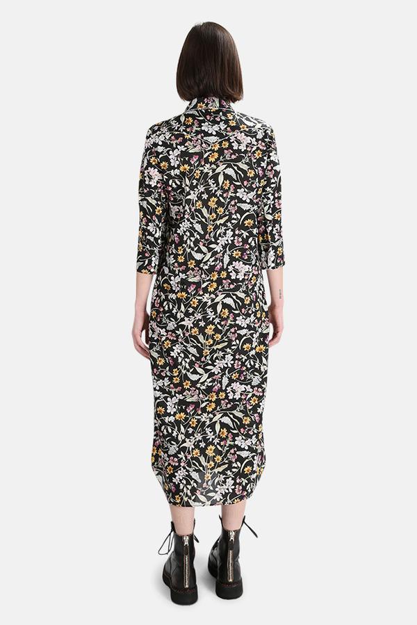 R13 Cowboy Dress - Black Floral