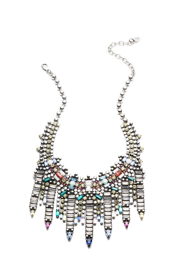 Dannijo Desi Necklace - Multi/Ox Silver-
