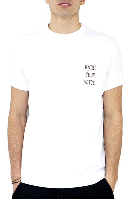 DIPLOMACY Raise Your Voice Tee - White