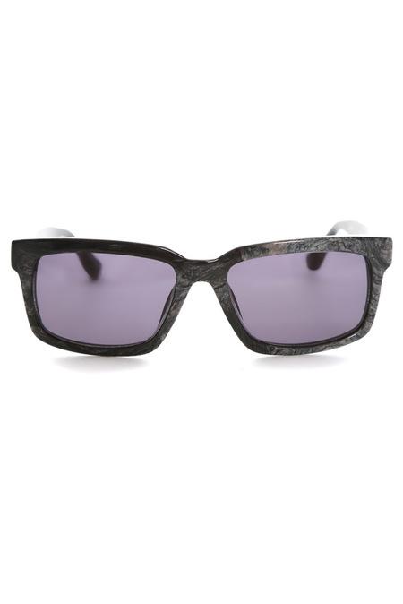 Raf Simons Black Marble Sunglasses - Grey Marble