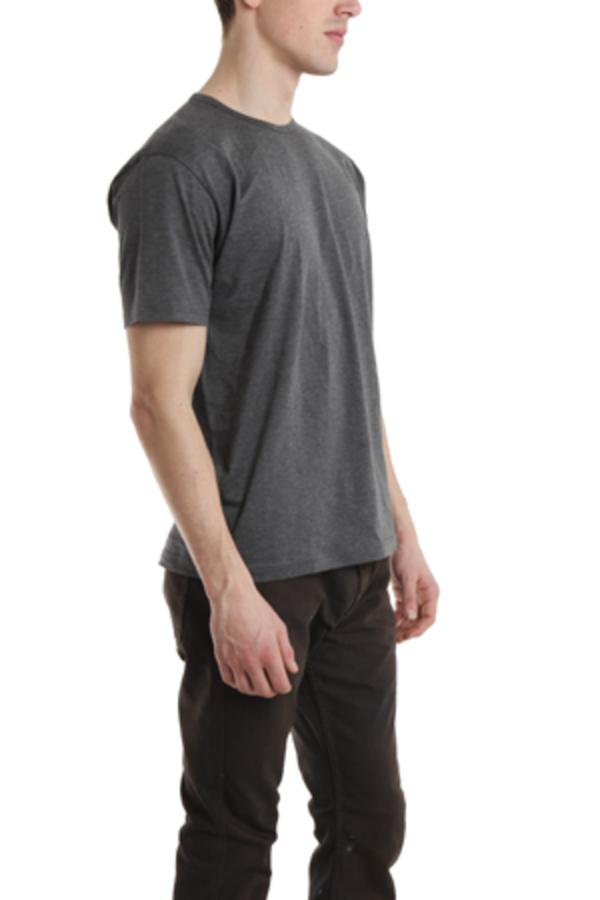 Sunspel Melange Crewneck T-Shirt - Charcoal