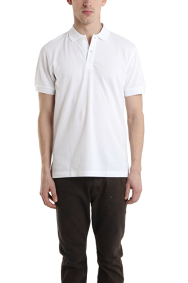Men's Sunspel Pique Polo Shirt - White