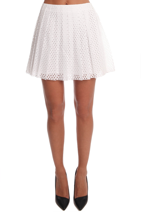 Alexander McQueen Pleat Skirt - Optic White