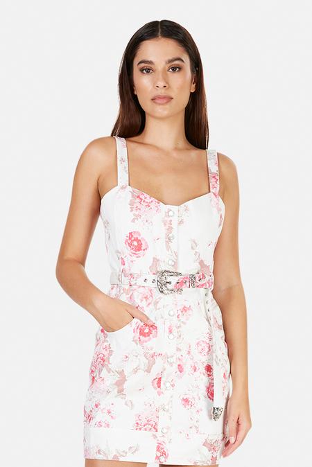 For Love & Lemons Weston Mini Dress - Pink Floral