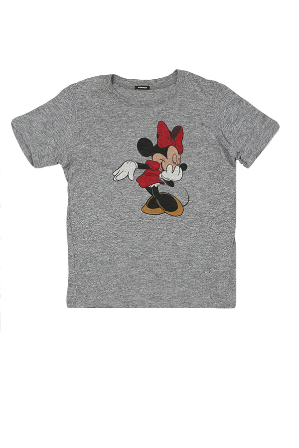 Kids Monrow Minnie Crew Tee - Granite
